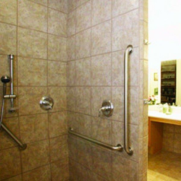 Barra de apoio para banheiro em aço inox